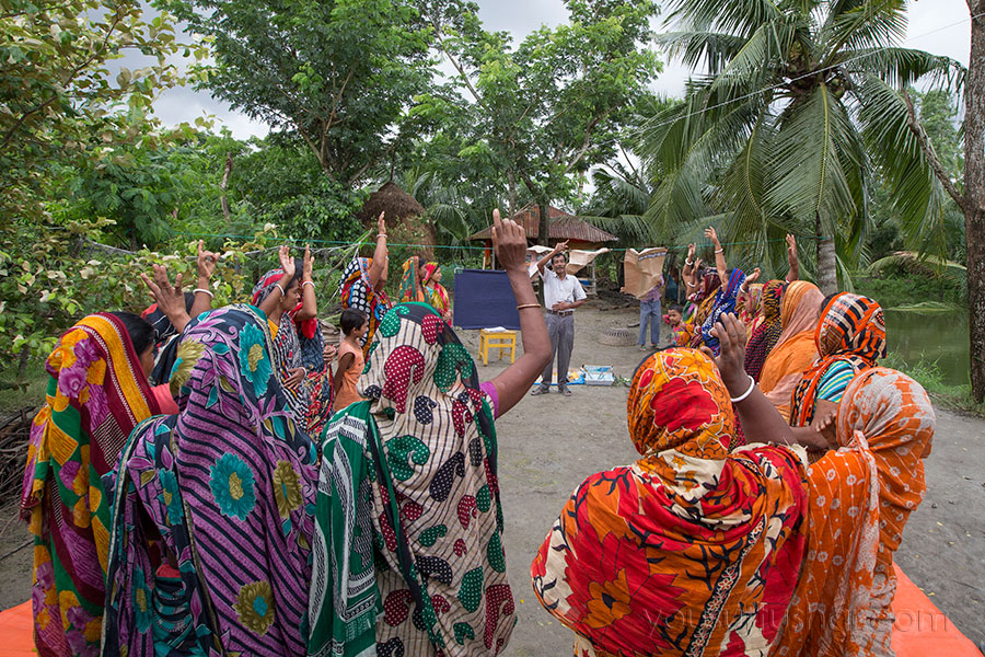 Fish farmers taking training from worldfish in Khulna, Bangladesh. Photo by Yousuf Tushar. July 31, 2015