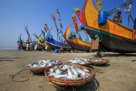 Fishing Boat at Cox's Bazar, Bangladesh.