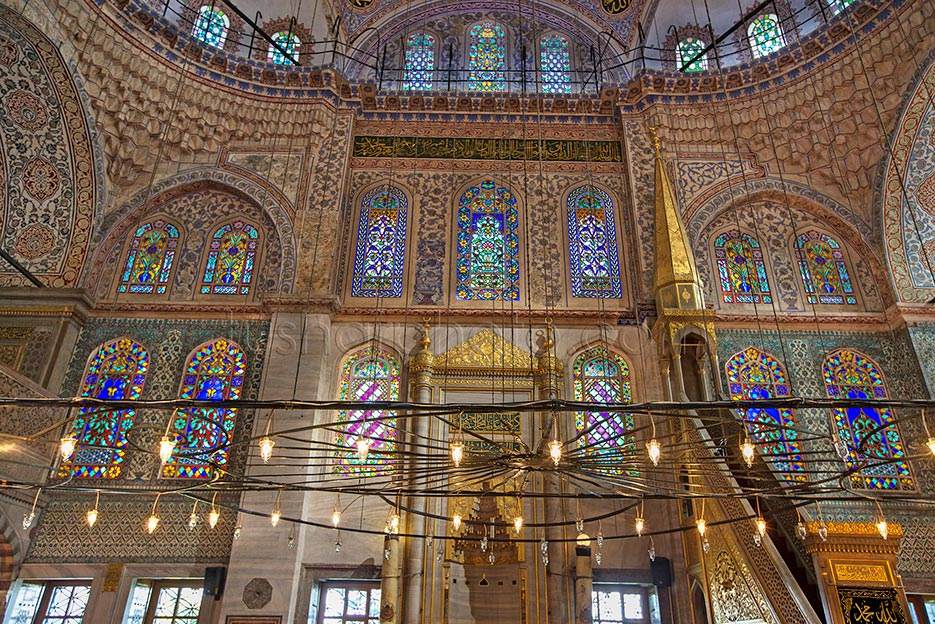 The Blue Mosque (Called Sultanahmet Camii in Turkish) is an historical mosque in Istanbul. The mosque is known as the Blue Mosque because of blue tiles surrounding the walls of interior design. Mosque was built between 1609 and 1616 years, during the rule of Ahmed I. just like many other mosques, it also comprises a tomb of the founder, a madrasa and a hospice.Besides still used as a mosque, the Sultan Ahmed Mosque has also become a popular tourist attraction in Istanbul.
