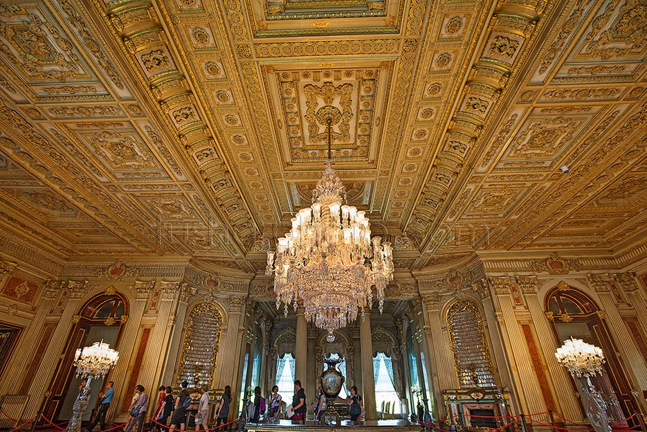 """Dolmabahce Palace built in 19th century is one of the most glamorous palaces in the world.Dolmabahçe (Filled-in Garden) comes from the Turkish dolma meaning """"filled"""" and bahçe meaning """"garden. The Palace was ordered by the Empire's 31st Sultan,  Abdul Mecit and built between the years 1843 and 1856. This palace is filled with every luxury imaginable. The construction cost five million Ottoman mecidiye gold coins, 35 tons of gold, the equivalent of ca. $1.5 billion in today's (2013) values. It was the administrative center of the late Ottoman Empire with the last of Ottoman Sultans was residing there. After the foundation of the Turkish Republic in Ankara, Mustafa Kemal Ataturk transferred all government functions to the youthful capital but on his visits to Istanbul Ataturk occupied only a small room at Dolmabahce Palace as his own. He stayed, welcomed his foreign guests and made a practical center for national, historical and language congress and for international conferences."""