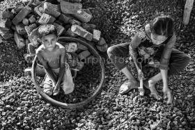 Brick breaking, Bangladesh