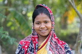 Portrait of a woman in Khulna, Bangladesh. Photo by M. Yousuf Tushar. April 18, 2014