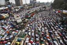 Muslims are praying at in